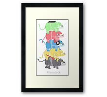 Lion Stack Framed Print