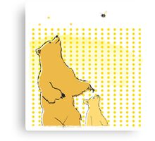 Bears and Bees Canvas Print