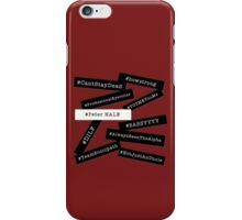 Hashtag Peter - Black & White iPhone Case/Skin