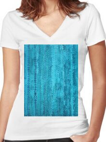 Some Call It Rain original painting Women's Fitted V-Neck T-Shirt