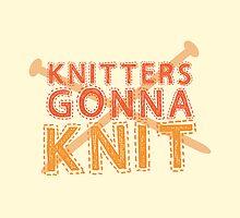Knitters gonna KNIT by jazzydevil