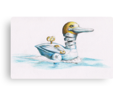A wind up duck Canvas Print