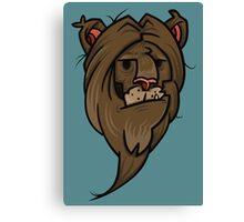 Grumpy lion Canvas Print