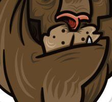Grumpy lion Sticker