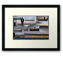 Pearly shells by the river.  Framed Print