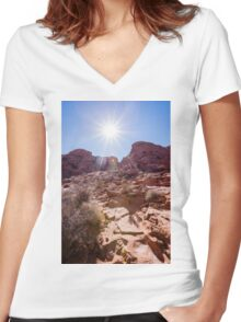 Valley of Fire State Park, Nevada Women's Fitted V-Neck T-Shirt