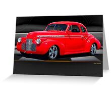 1941 Chevrolet 'Winners Circle' Coupe Greeting Card