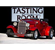1930 Ford Model A Roadster 'Tasting Room' Photographic Print