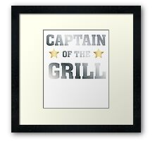 Captain of the grill - Cook T Shirt Framed Print