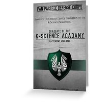 K-Science Acadamy Graduate Certificate  Greeting Card