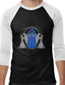 Weeping Angels and the Tardis Men's Baseball ¾ T-Shirt