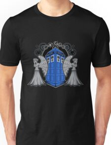 Weeping Angels and the Tardis Unisex T-Shirt