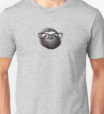 Hipster Sloth Unisex T-Shirt