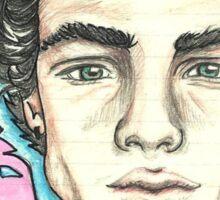 Ethan Dolan colour pencil portrait Sticker