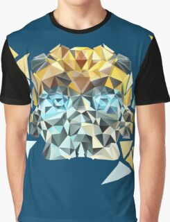 Bumblebee Portrait with Triangles Graphic T-Shirt