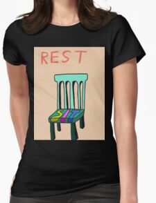 Rest Womens Fitted T-Shirt