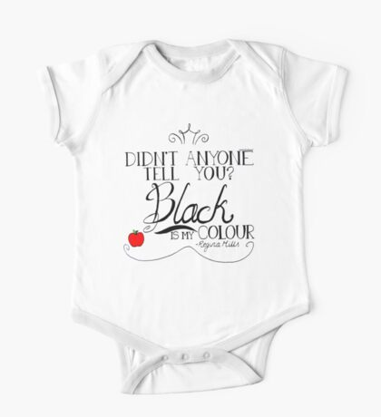 Black is my colour (black font, English spelling) One Piece - Short Sleeve