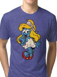 Smurfette by WRTISTIK Tri-blend T-Shirt
