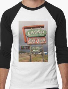 Lasso Motel Men's Baseball ¾ T-Shirt