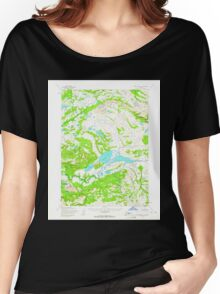 USGS TOPO Map Alaska AK Lake Clark A-7 356962 1954 63360 Women's Relaxed Fit T-Shirt