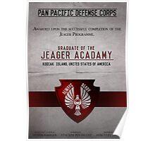 Jeager Acadamy Graduate Certificate  Poster
