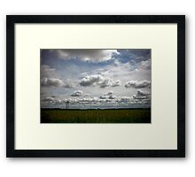 Blur of the Road Framed Print