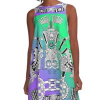 Aztec Warrior A-Line Dress