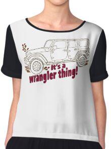 Jeep Wrangler life! Chiffon Top