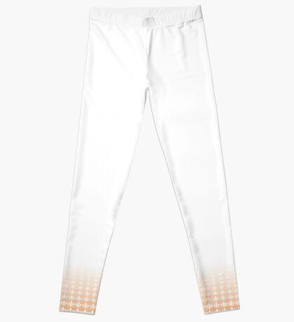 Women's Leggings - Peach Echo on White Leggings