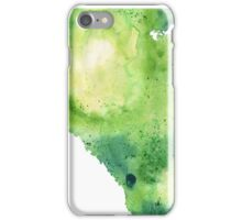 Watercolor Map of Alberta, Canada in Green - Giclee Print of My Own Watercolor Painting iPhone Case/Skin