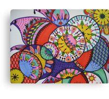 basket circle Canvas Print