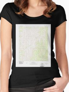 USGS TOPO Map Alaska AK Candle A-1 361738 1954 63360 Women's Fitted Scoop T-Shirt
