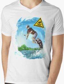 Wakeboard Thulba Mens V-Neck T-Shirt