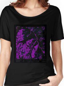USGS TOPO Map Alaska AK Ophir B-1 358249 1954 63360 Inverted Women's Relaxed Fit T-Shirt