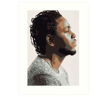 KENDRICK LAMAR - PORTRAIT ILLUSTRATION  Art Print