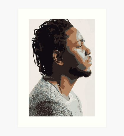 KENDRICK LAMAR - PORTRAIT ILLUSTRATION  Art Print