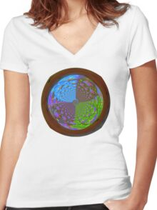 Wishing Well of Lost Souls Women's Fitted V-Neck T-Shirt