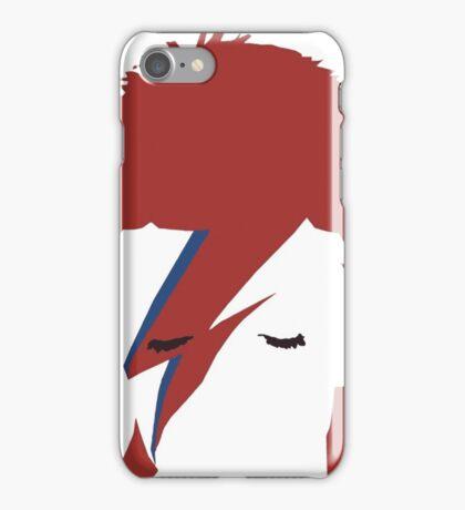 David bowie T-shirt - red hair  iPhone Case/Skin