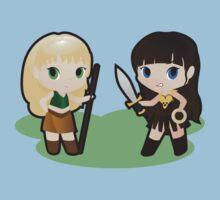 Geek Babies: Xena & Gabrielle One Piece - Short Sleeve