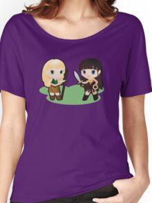 Geek Babies: Xena & Gabrielle Women's Relaxed Fit T-Shirt
