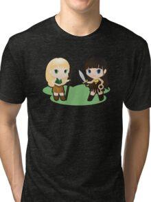 Geek Babies: Xena & Gabrielle Tri-blend T-Shirt