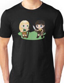 Geek Babies: Xena & Gabrielle Unisex T-Shirt