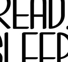 Tea Read Sleep Repeat Sticker