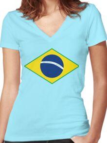 Germany 7 - 1 Brazil Women's Fitted V-Neck T-Shirt
