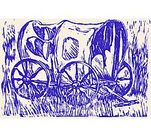 Abandoned Wagon Photographic Print