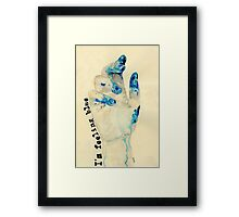 I'm Feeling Blue Framed Print