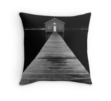 Boat Shed at Night Throw Pillow