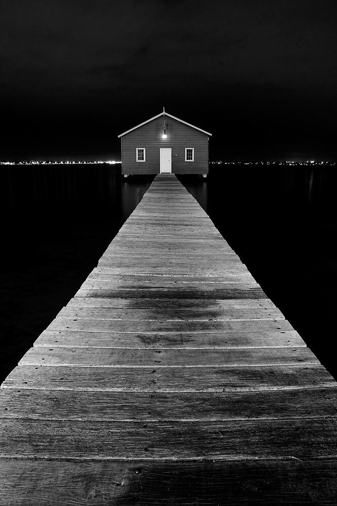 Boat Shed at Night by Dave van der Wal