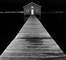Boat Shed at Night by Dave van der Wal