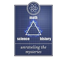 Big Bang Theory - Math, science, history, unraveling the mystery, Photographic Print